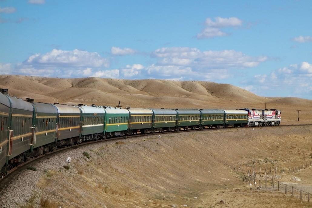 Im Zug von der Mongolei nach China