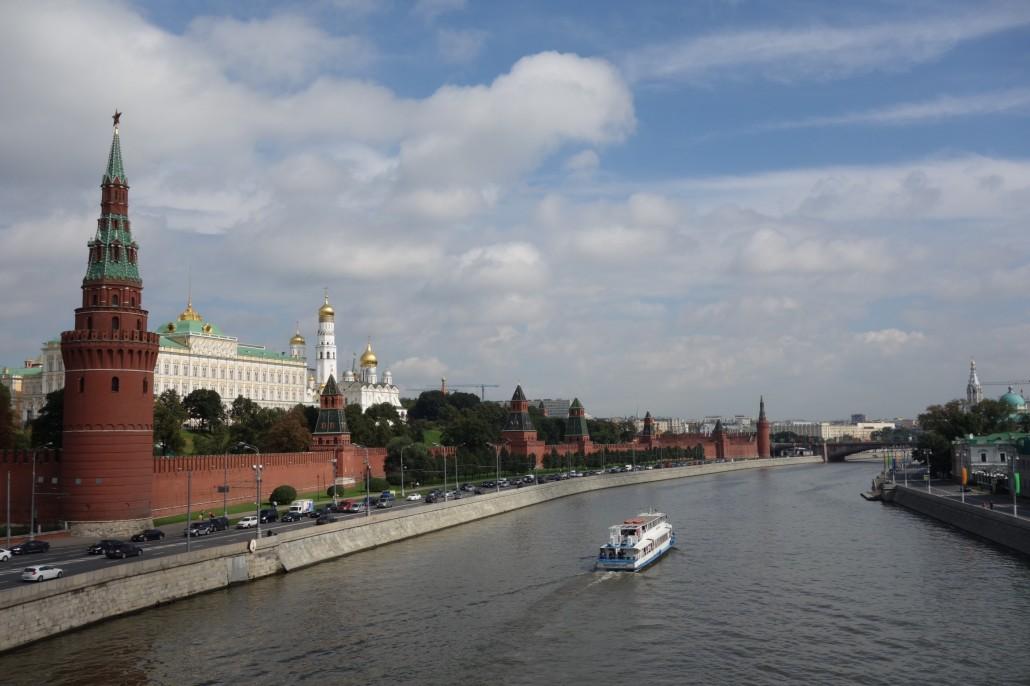 Moskau endlich bei gutem Wetter