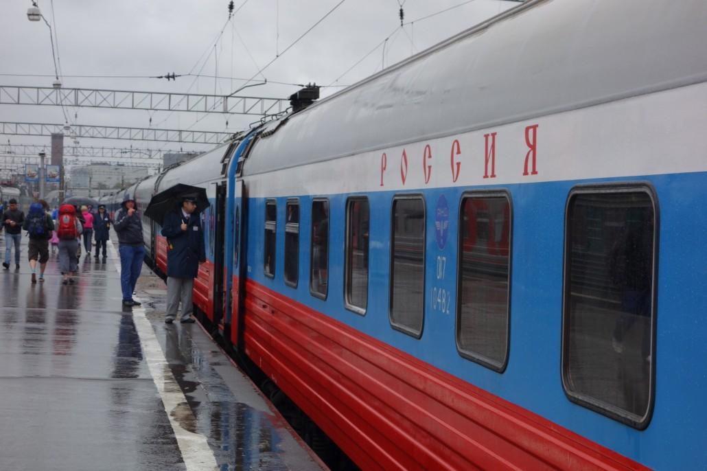 Abfahrt aus Moskau