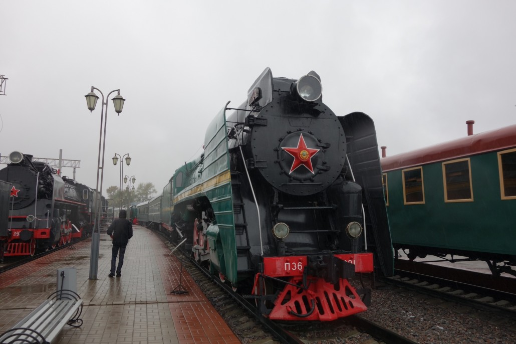 Moskauer Eisenbahnmuseum am Rigaer Bahnhof
