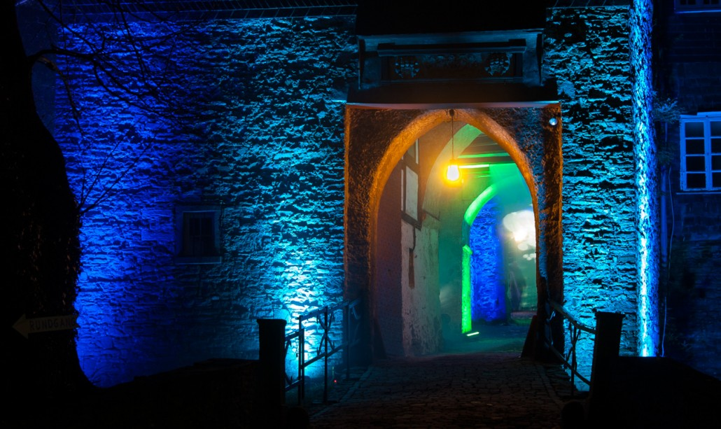 Lichtspiele auf Schloss Hohenlimburg