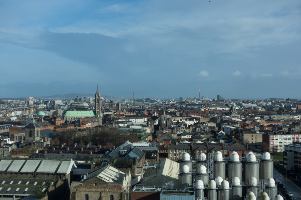 Panoramablick über Dublin von der Guinness Gravity Bar